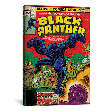 "Marvel Comics Retro // 1977-1979 #7 // Black Panther (26""W x 18""H x 0.75""D)"