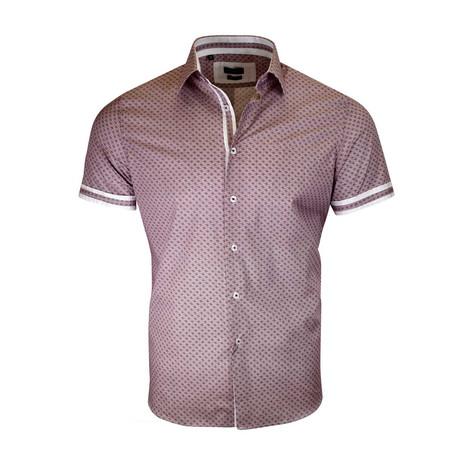 Diego Modern-Fit Short-Sleeve Dress Shirt // Burgundy