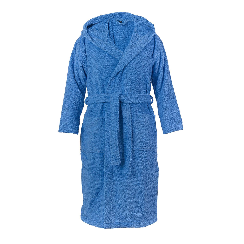 hooded bathrobe aqua l xl casa di bassi touch of modern. Black Bedroom Furniture Sets. Home Design Ideas
