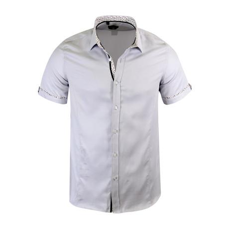 Lorenzo Modern-Fit Short-Sleeve Dress Shirt // Grey