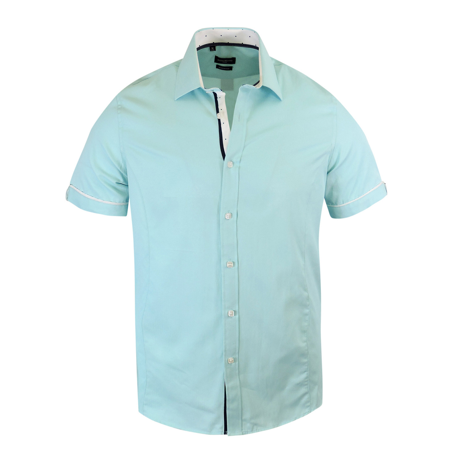Andrea Modern Fit Short Sleeve Dress Shirt Mint M Tr Premium