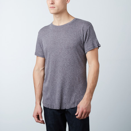 Frayed Scoop Tee // Charcoal (S)