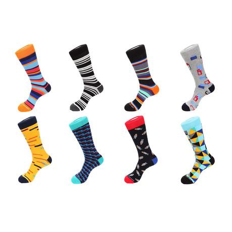 Crew Socks Combo Set // Donte // 8 Pack