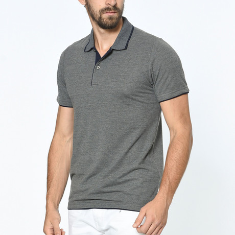 Subtle Accent Polo // Anthracite (3X-Large)