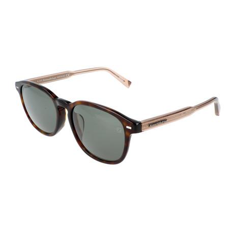 Men's EZ0005-F Sunglasses // Tortoise + Green