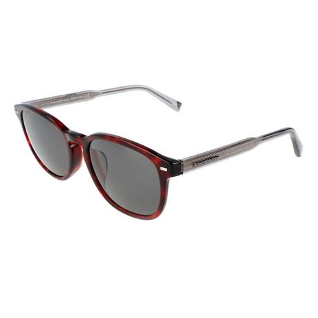 Men's EZ0005-F Polarized Sunglasses // Red Havana + Smoke