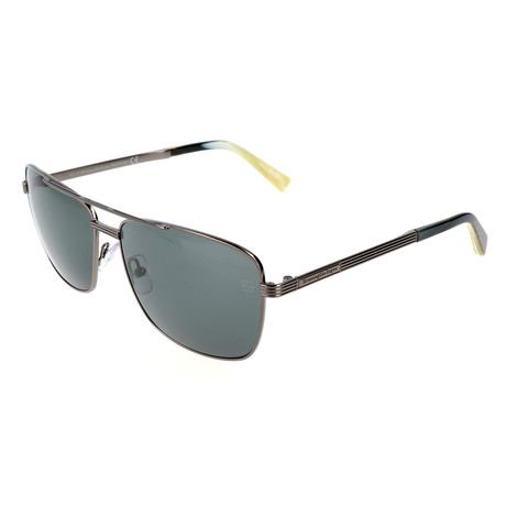 Men's EZ0031 Sunglasses // Shiny Gunmetal + Green
