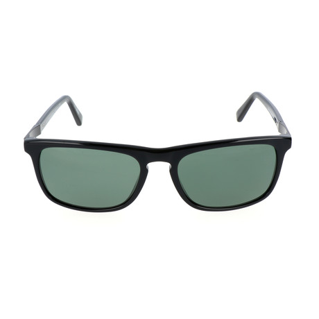 E. Zegna // Arlo Sunglass // Black + Green
