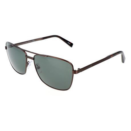 Men's EZ0031 Sunglasses // Matte Dark Bronze + Green