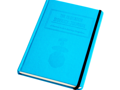 Photo of CLEARANCE: Accessories Curated Accoutrements Meditation Sidekick Journal (Ocean Blue) by Touch Of Modern