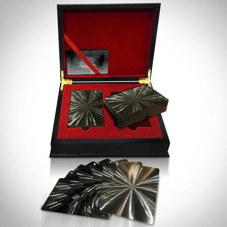 Black on Black Obsidian Carbonite Playings Cards // Big Bang