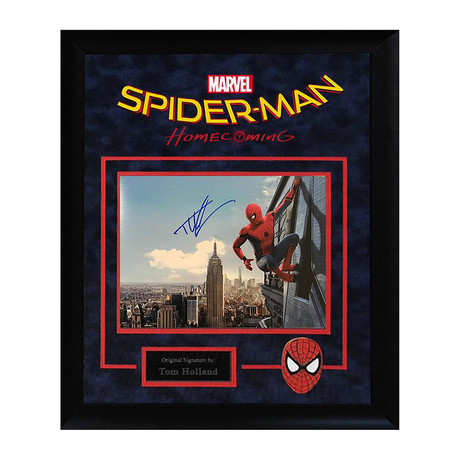 "Signed + Framed Artist Series // ""Spider-Man: Homecoming"" // Spiderman"