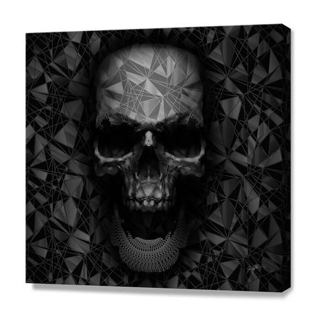 """Geometric Skull (12""""H x 12""""W x 0.75""""D)"""