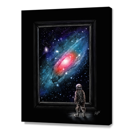 "Looking Through A Masterpiece (10""H x 8""W x 0.75""D)"