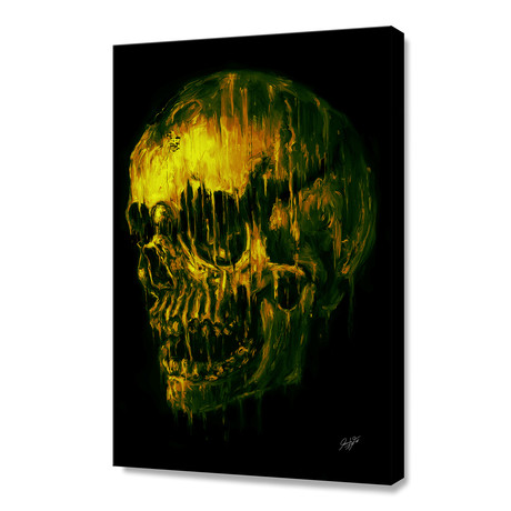 "Melting Skull (12""H x 8""W x 0.75""D)"