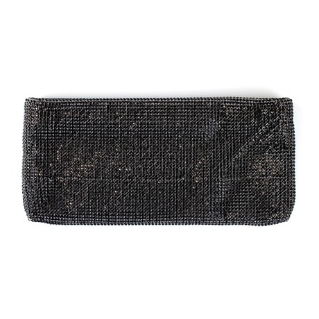 Christian Louboutin // Maykimay Clutch Purse // Black Crystal