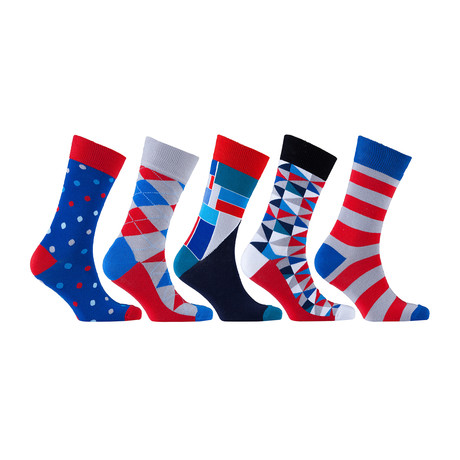 Fun Cool Cotton Colorful Mix Socks // Set of 5 // 3030