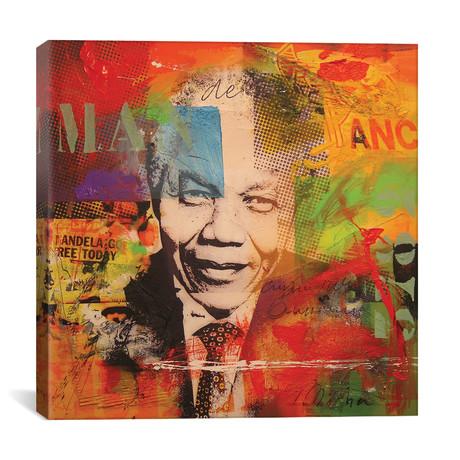 "Mandela // Micha Baker (18""W x 18""H x 0.75""D)"