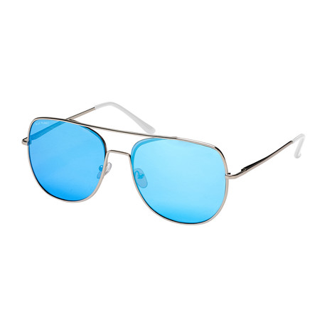 Sydney // Silver + Frost Crystal Clear Tips + Ice Blue Mirror Polarized