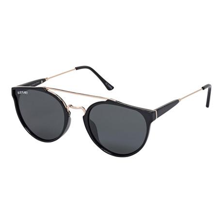 Men's Romi Polarized Sunglasses // Black Onyx + Gold + Smoke