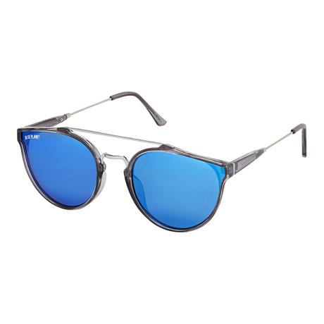 Romi // Crystal Smoke + Silver + Blue Mirror Polarized