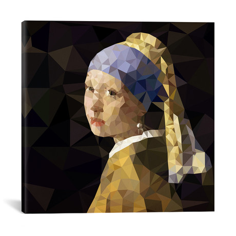Girl With Pearl Earring Derezzed // 5by5collective