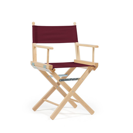 Director's Chair Bordeaux // Natural Frame // Set of 2