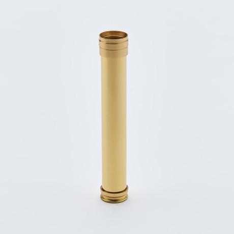 """9.5"""" Polished Brass Pocket Telescope + Hardwood Case"""