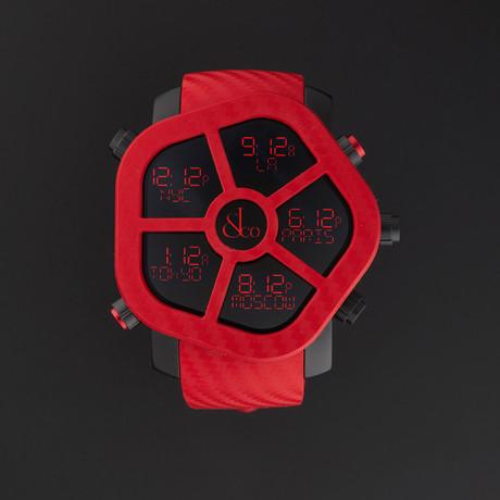 Jacob & Co. Ghost Carbon Quartz // Red // GH100.11.NS.PC.ANA4D // New