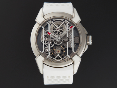 Photo of Jacob & Co. Luxury Statement Timepieces Jacob & Co. Epic X Racing Manual Wind // 550.100.20.WR.OY.4NS // Store Display by Touch Of Modern