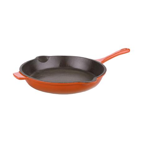 """Neo 10"""" Cast Iron Fry Pan // Orange"""