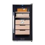 Whynter Elite Touch Control Stainless Cigar Cooler Humidor