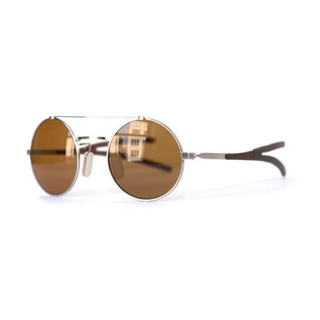 Model 10.03 Sunglasses // White Gold