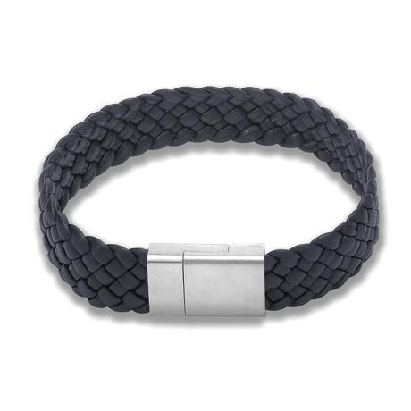 Thick Braid Leather Bracelet