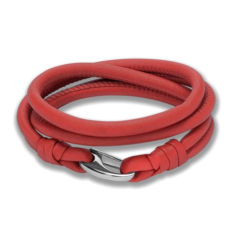 Leather Cord Wrap Bracelet