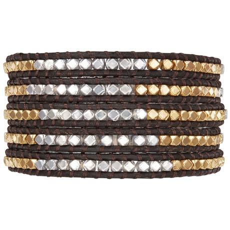 Silver + Gold Wrap Bracelet