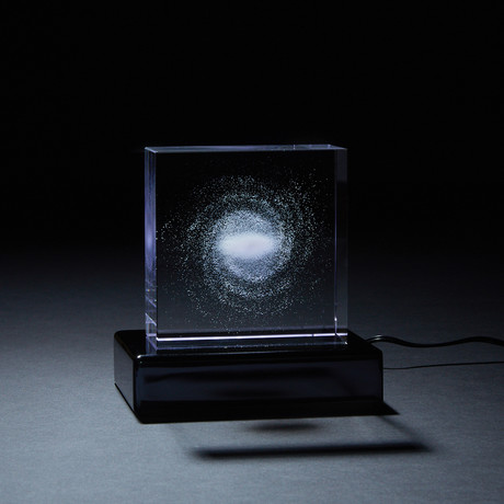 Milky Way Galaxy Crystal (With LED Base)