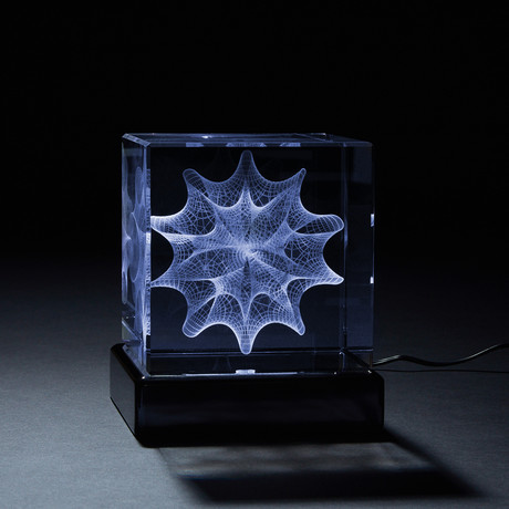 Mega Calabi-Yau Crystal (With LED Base)