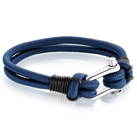 U-Lock Clasp Leather + Cord Bracelet