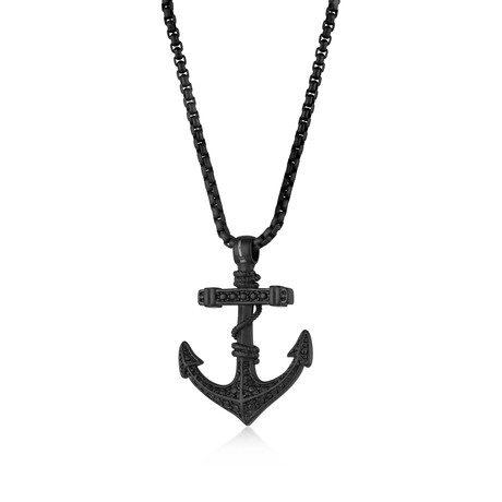 Reptile Design Anchor Necklace