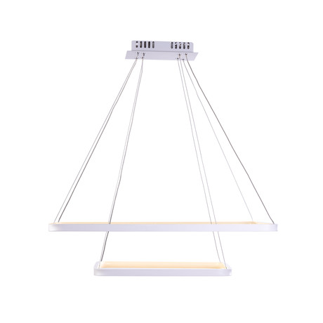 Floating LED Rectangle Chandelier // Double