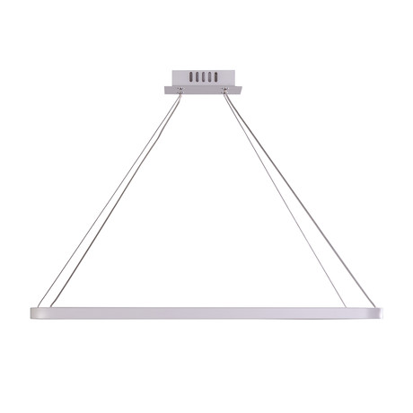 Floating LED Rectangle Chandelier // Single