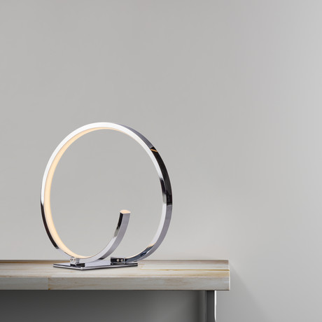 Modern Chrome Loop LED // Table Lamp