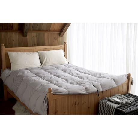 Smart Heated Comforter // Gray