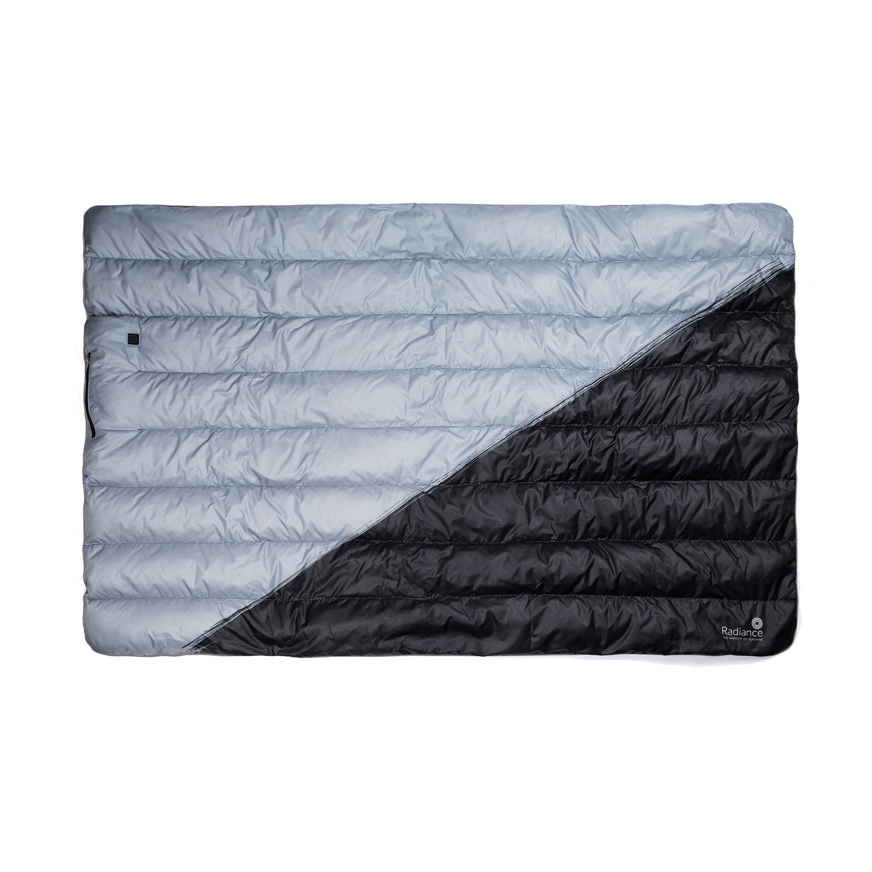 Goose Down Outdoor Heated Blanket Black Medium