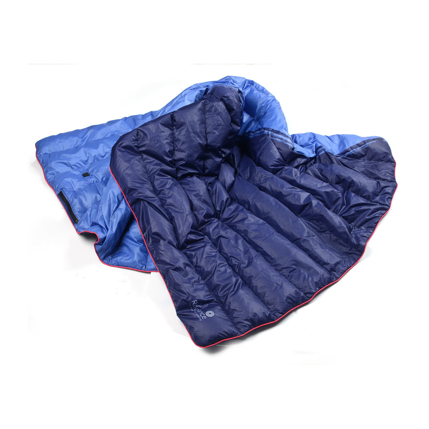 Goose Down Outdoor Heated Blanket Blue Large