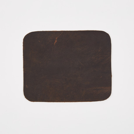 Leather Mouse Pad // Antique Brown