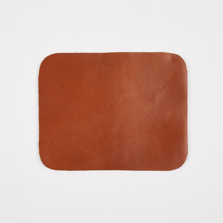 Leather Mouse Pad // Tan Brown