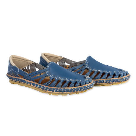 Titan Leather Sandals // Blue (UK: 6)