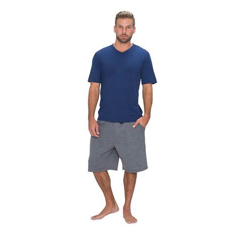 SHEEX® 828 Men's Short Sleeve V-Tee // Navy